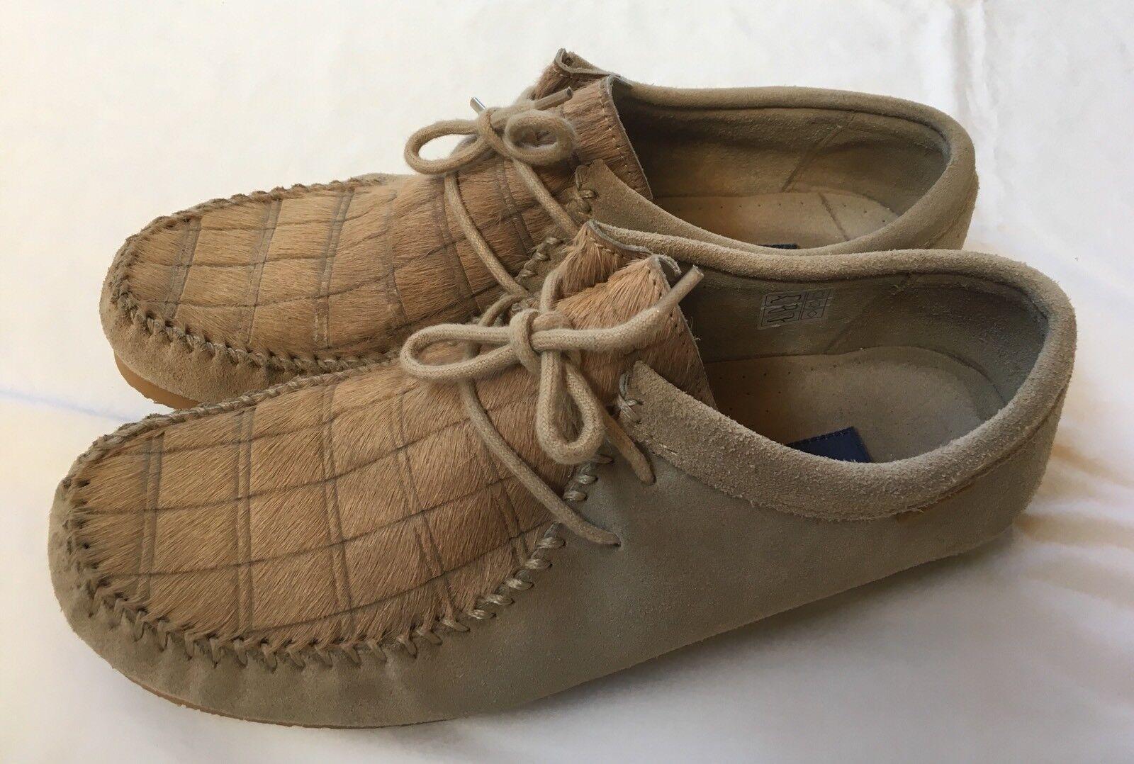Größe 11 Vintage Hide Ben Sherman Branded Untanned Hide Vintage & Suede Moc Toe Fashion Schuhes 8700a0
