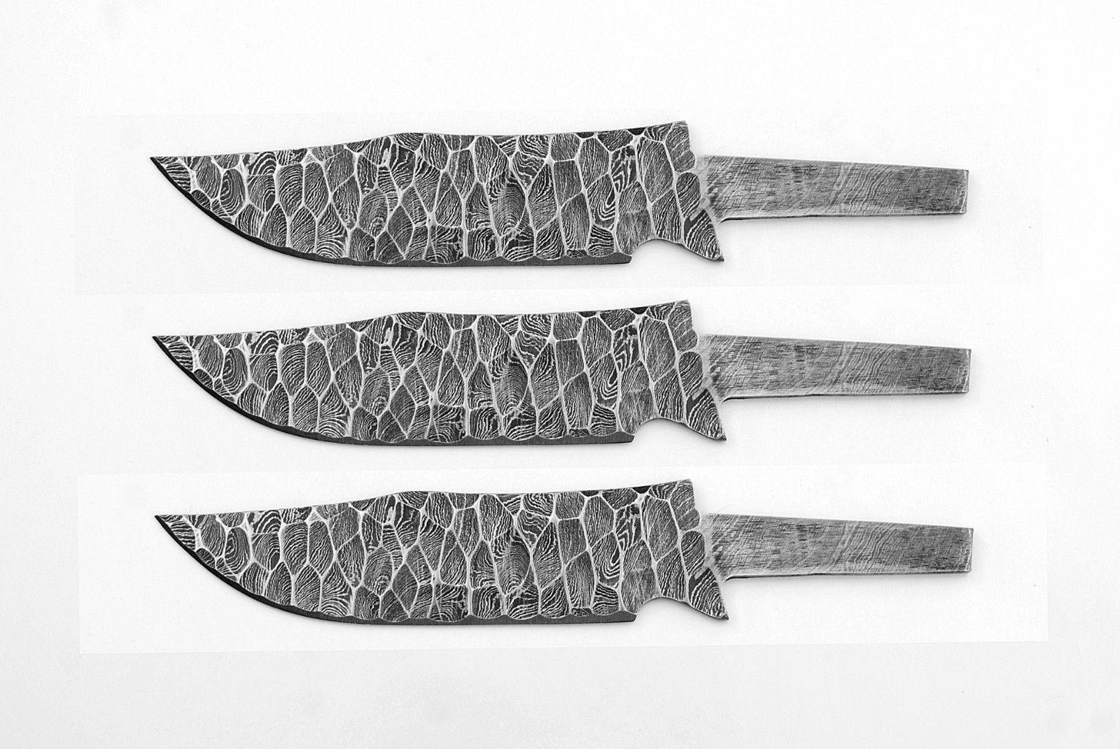 3XStück 3XStück 3XStück Damast messer  klinge jagdmesser blank blades (3 X KLINGEN) 0e2a5a
