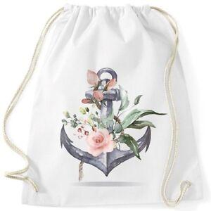 Turnbeutel-Anker-Blumen-Watercolor-Gymsac-Baumwolle-Autiga