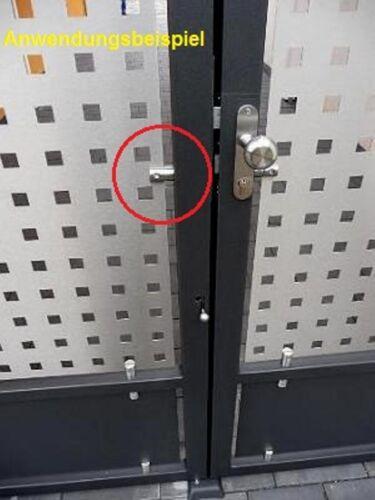 Edelstahl Blechhalter Anschluss flach V2A Klemmhalter VA Plattenhalter Lochblech