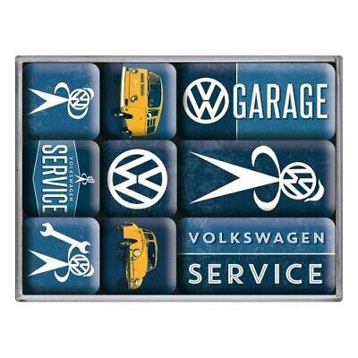 Magnet Set 9 Tlg Sonstige Vw Service Volkswagen,in Poly Box,nostalgie Set,neu