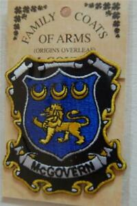 Crest Embroidered Badge McGOVERN Family PATCH Heraldic Coat of Arms