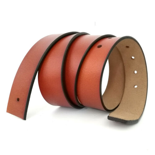 "2019 High quality Mens belt Genuine Leather Belt No Buckle waist 30/""-48/""3 colors"
