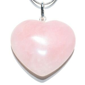 Details about CHARGED Himalayan Rose Quartz Crystal HEART Pendant + 20