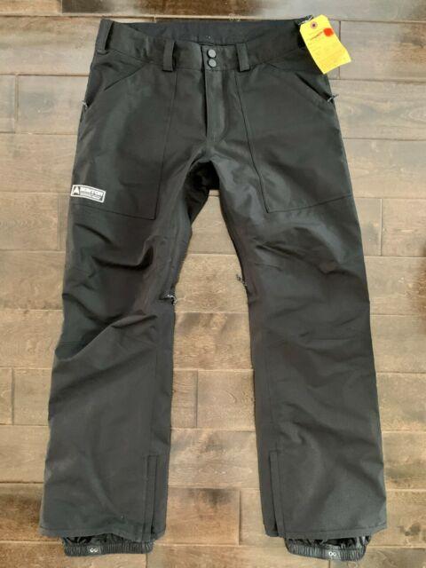 Mens Burton Gore-Tex Black snowboarding ski snowboard pants Large Ballast NWOT