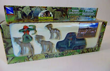 NEW Playset DEER ANTELOPE Bow Hunter ATV Hunting Jeep Figurine Buck Doe Fawn Toy