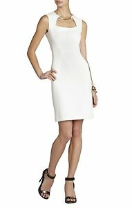 NEW-BCBG-MAX-AZRIA-OFF-WHITE-CLARA-BLOCKED-SHEATH-FZB6Y727-DRESS-SIZE-10