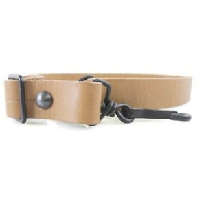 French-MAT-Military-Surplus-Tan-Leather-Rifle-Sling-Mint-Unissued-Condition-MAS