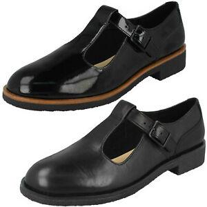 Patent T-Bar Strap Flat Shoes