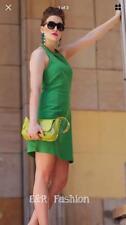 ZARA GREEN HALTER NECK DRESS SIZE MEDIUM (B7) REF: 4070 222