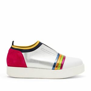 SNEAKERS-DONNA-CARMENS-SLIP-ON-ARGENTO-MULTICOLOR-CITY-MINIONS