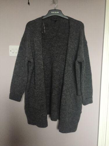 Topshop lana Bnwot grigio 10 oversize Petite cardigan Slouch misto morbido taglia pgnBUq