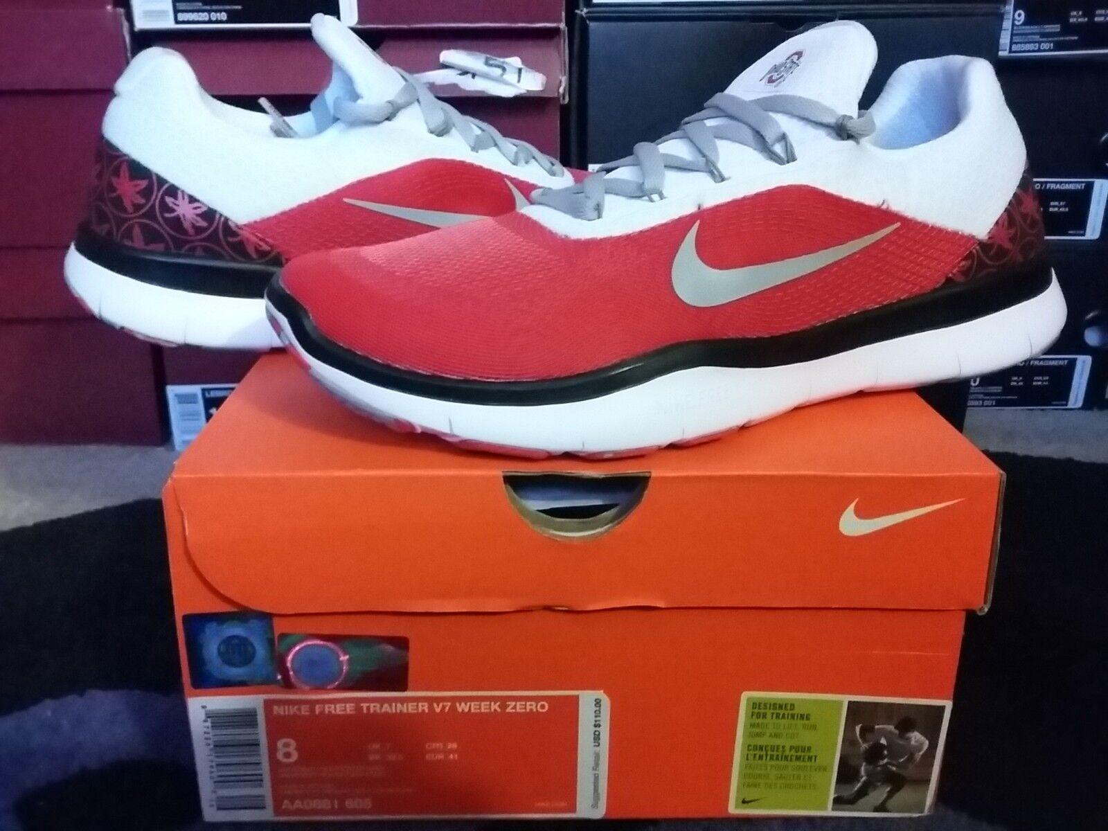Nike Air Free Trainer 5.0 V7 Amp Ohio State OSU Buckeyes Week 0 Zero AA0881 605 Seasonal price cuts, discount benefits