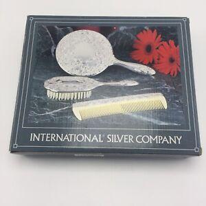 International Silver Company Mirror Brush Comb Set 3 Pieces New No 99117931