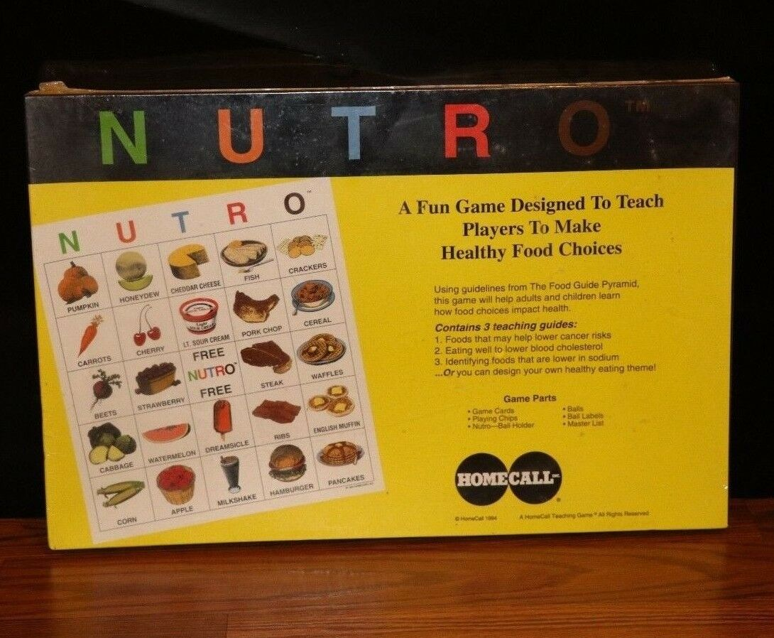(New) Health Science Food Pyramid Nutrition Education Kids Nutro Board Game