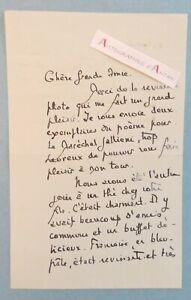 L-A-S-Maurice-ROSTAND-poete-poeme-Marechal-Gallieni-The-chez-un-ami-lettre