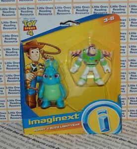 Imaginext Toy Story 4 BUZZ LIGHTYEAR & BUNNY Figure Disney Pixar Fisher Price