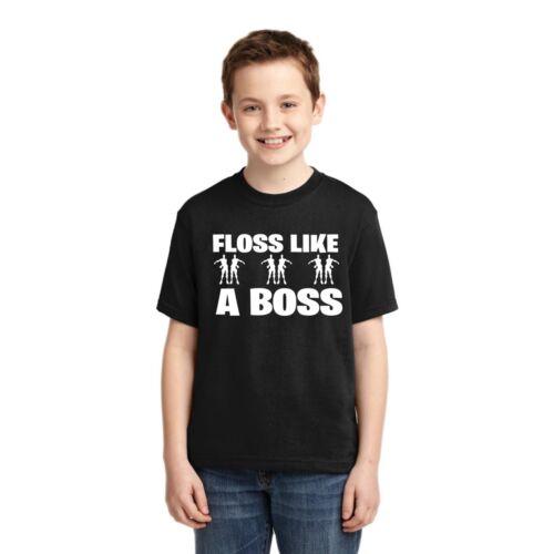 Victory Royale Dance Floss Like A Boss Boys Gaming T-Shirt Funny Gamer Tee