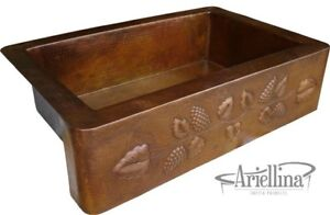 Surprising Details About 36 Ariellina Farmhouse 14 Gauge Copper Kitchen Sink Lifetime Warranty Ac1910 T Interior Design Ideas Inesswwsoteloinfo