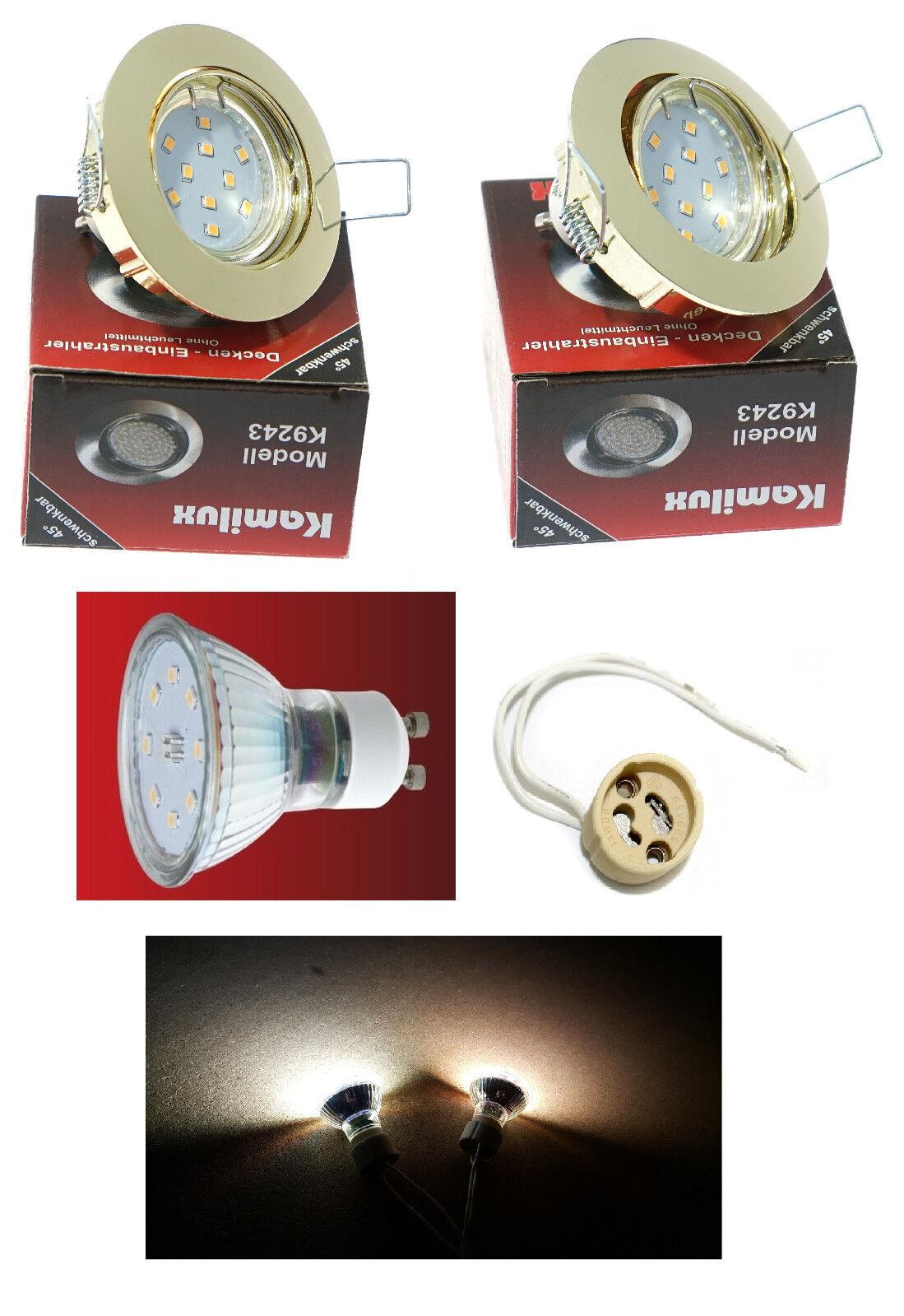 Flureinbaustrahler SMD LED Lisa Gold 5W = 50W schwenkbar 230V