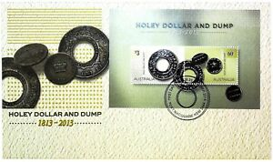 2013-FDC-Australia-Holey-Dollar-amp-Dump-M-S-034-Holey-Dollar-034-PictFDI-034-PORT-MACQUARIE