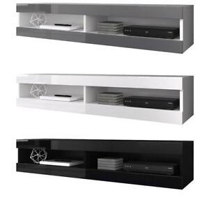 TV-Mobel-Schwebend-zur-Wandbefestigung-Stander-Volant-150-cm-Mit-Oder-Ohne-LED