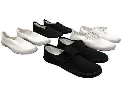 Unisex Pumps Sneakers Lace UpTrainers Gym shoes Plimsolls