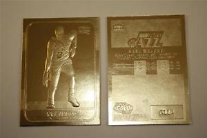 KARL-MALONE-1986-87-Fleer-ROOKIE-23KT-Gold-Card-Sculptured-NM-MT-Serial-Numbered