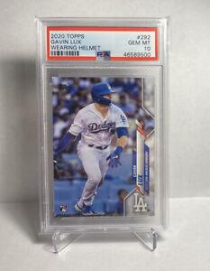 2020 Topps Series 1 #292 Gavin Lux Rookie Card RC Dodgers PSA 10 Gem Mint 🔥🔥🔥
