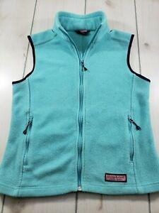 Vineyard Vines Full Zip Fleece Vest Jacket Turquoise Women