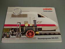 Märklin Gesamt-Katalog 1991/92 neu / ungelesen / H0 / Spur z / Spur 1 / Händler