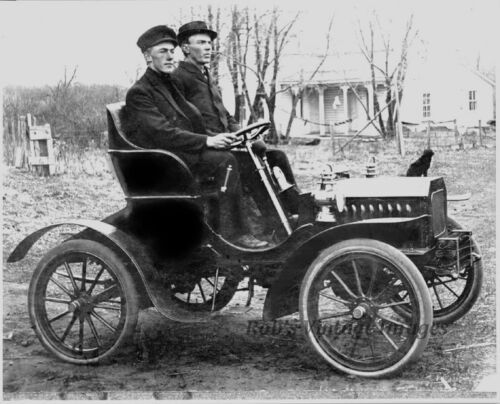 Old Vintage Antique1904 POPE TRIBIUNE  Auto Car Made in Hagersown MD Photo 5x7