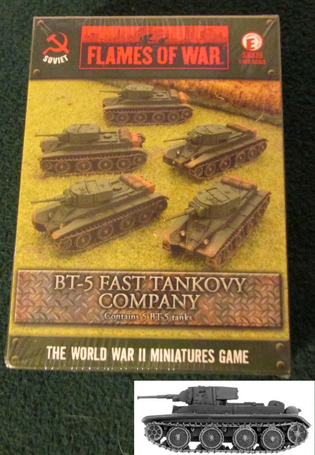 Flames of War SBX19 WWII BT-5 Fast Tankovy Company (5) Miniatures 1 100 Tanks