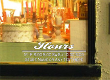 Custom Store Decal Business Office Hours Sign Door Window Sticker Salon Deli Pub