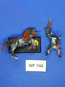 Warhammer-Fantasy-Chaos-Classic-Hero-Mounted-Damaged-Metal-WF744