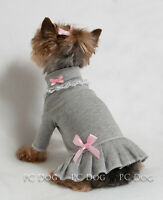 S Gray And Pink Turtleneck T Shirt Dog Dress Knit Clothes Pet Small Pc Dog®