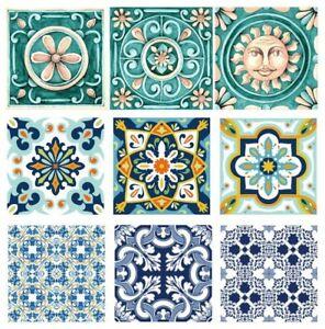 10-Aufkleber-15-x-15-cm-Fliesen-Wand-Deko-Sticker-div-Muster-Mosaik-Majolika