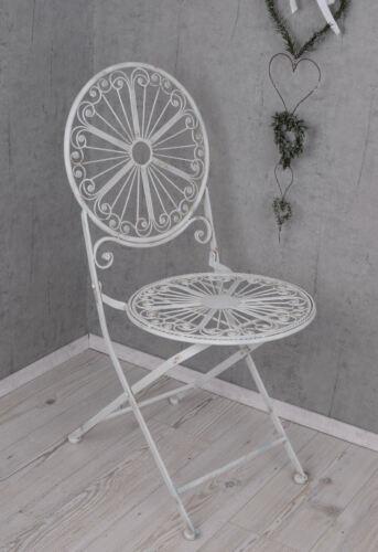 Fer chaise Shabby Jardin Chaise Pliante Chaise Blanc fer chaise de jardin Chaise de balcon