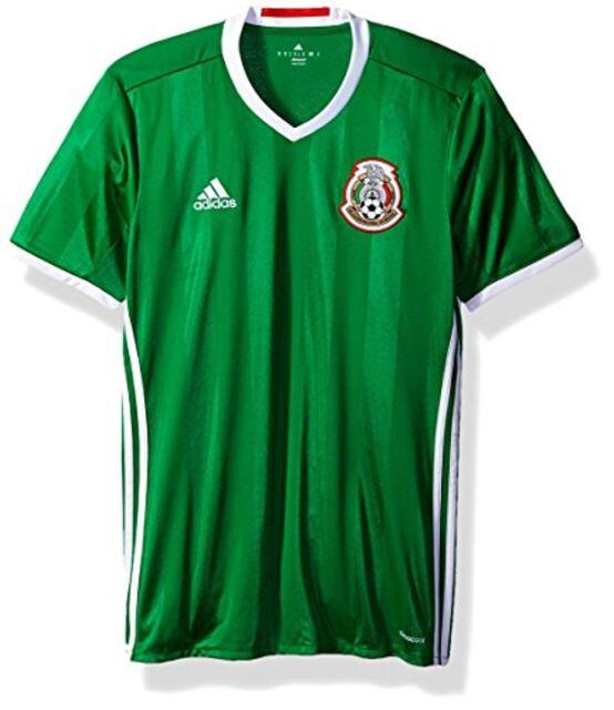 Buy adidas Men s Mexico International Soccer Jersey Green 2016 17 ... 10b714686