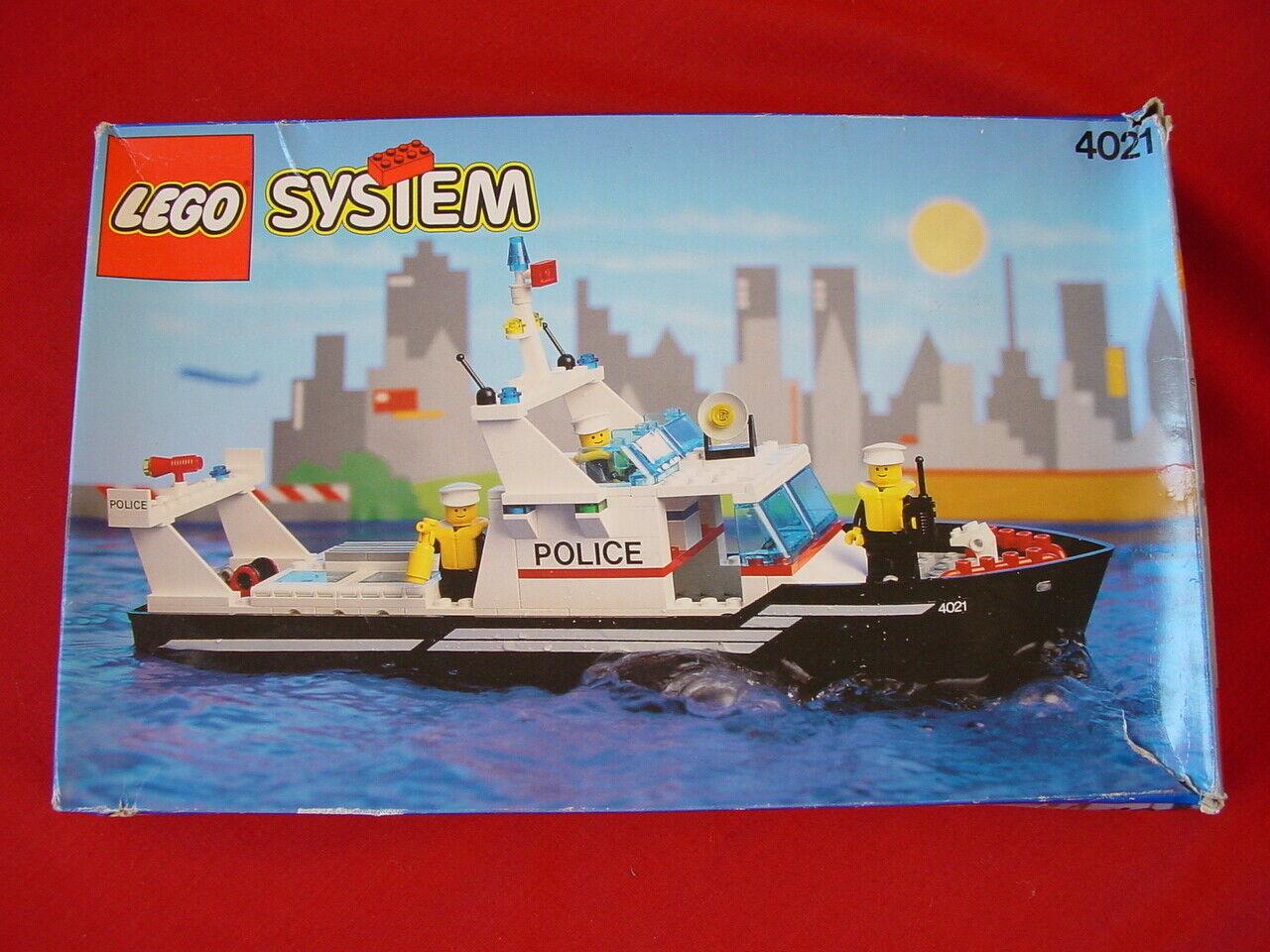 LEGO SYSTEM 4021 Police Patrol Boat-Complete vintage set 1991-Voir mes objets