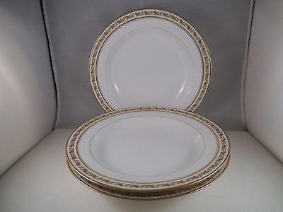 Vintage Set of 3 GDA Ch Field Haviland Limoges France Rimmed Soup Bowls