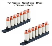 Tuff Products 38 357 40 Speed Quick Strip Revolver Loader 7 Round -2 Pack Black