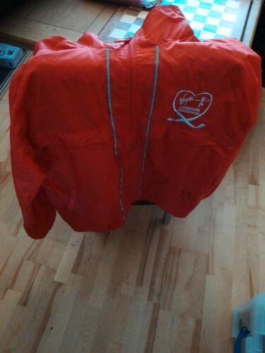 London Marathon 2019 Veste Imperméable Vierge Imperméable Fermeture Éclair Rouge Unisexe Taille L