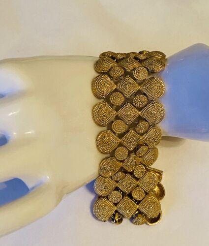 scarab bracelet real gemstones beautiful Kenneth Jay Lane Vintage signed KJL