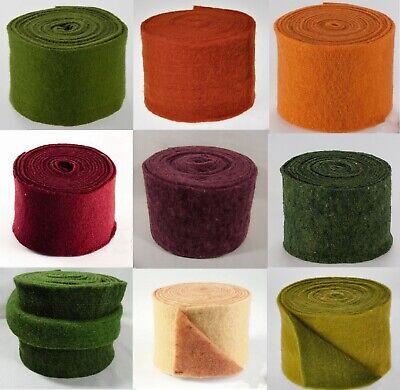Topfband Filz-Wolle Filzband 15cm x 5m Orange in vielen Farben