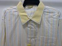 Tulliano Men's Designer Shirt - Yellow Stripped Big & Tall Sizes & Tags
