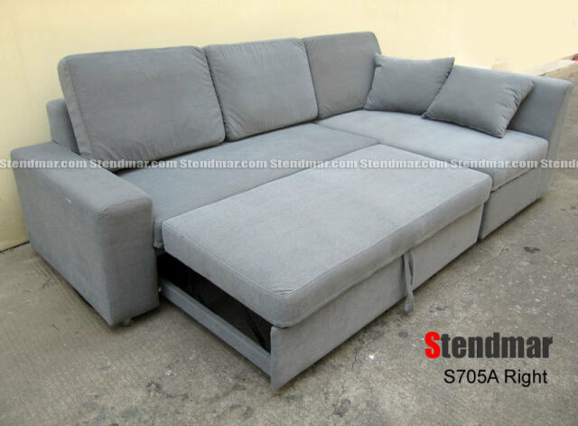 2 Piece Modern Fabric Sectional Sofa Sleeper Bed S705a