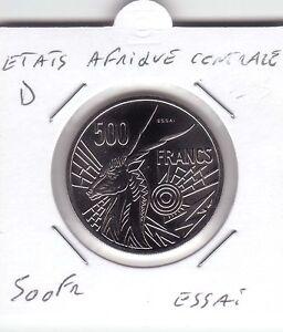 ESSAI-500-FRANCS-ETATS-AFRIQUE-CENTRALE-LETTRE-034-D-034