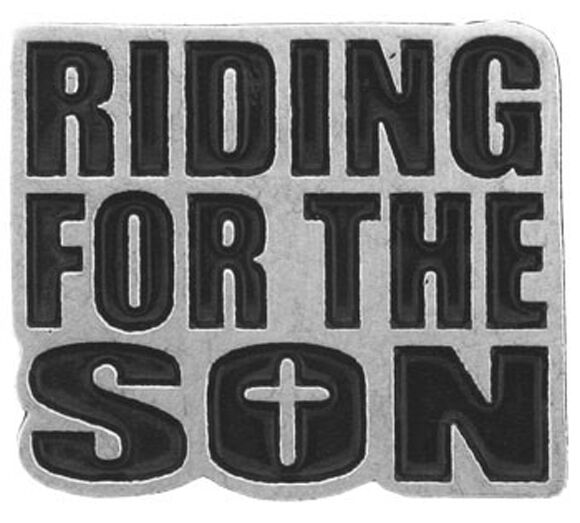 RIDING FOR THE SON PEWTER JACKET VEST  BIKER PIN