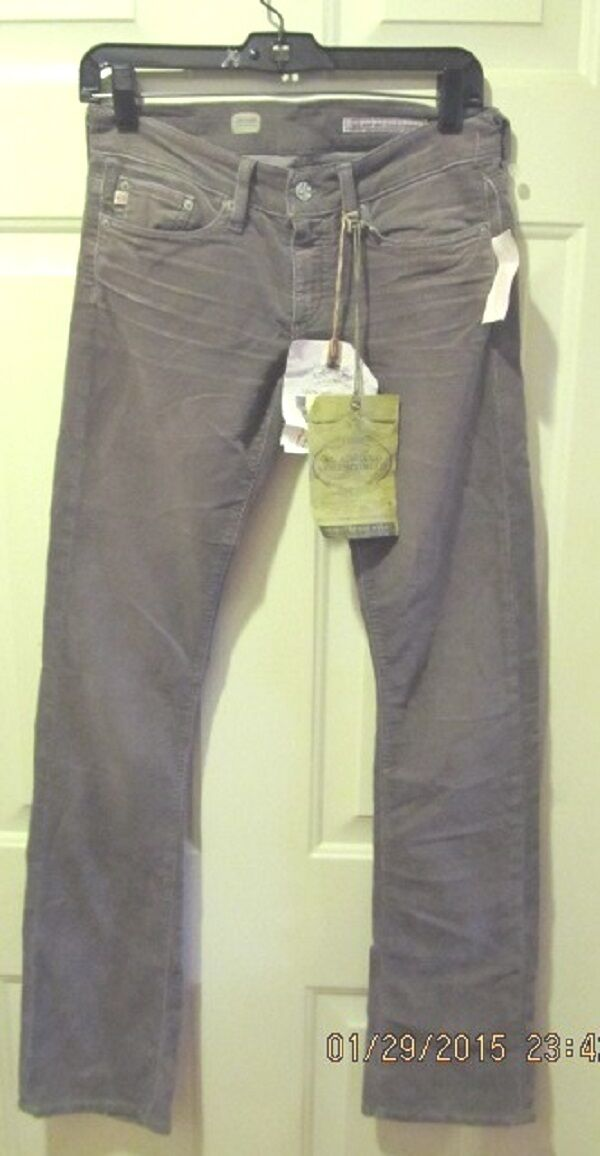 ADRIANO GoldSCHMIED THE DECADE TAN VINTAGE Stiefel CUT CORDS PANTS SZ 25 NWT  215